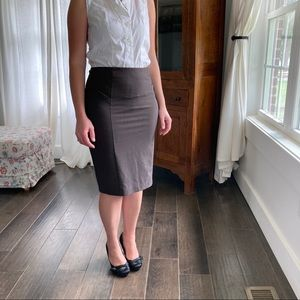 NY&Co Brown Pencil Skirt, Size 0
